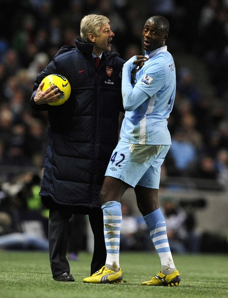 wenger and yaya toure