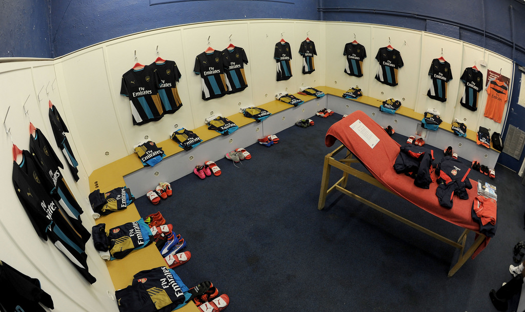 Away Gunner dressing room