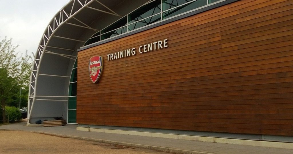 Pictures: New signing looking happy as Arsenal squad focuses during Monday's training