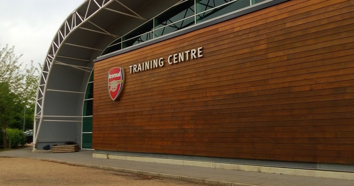 Pictures: 28-year-old star joins Arsenal squad in training ahead of Atletico clash